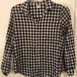 J.Crew gingham button up shirt